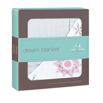 aden + anais dream blanket - for the birds medallion