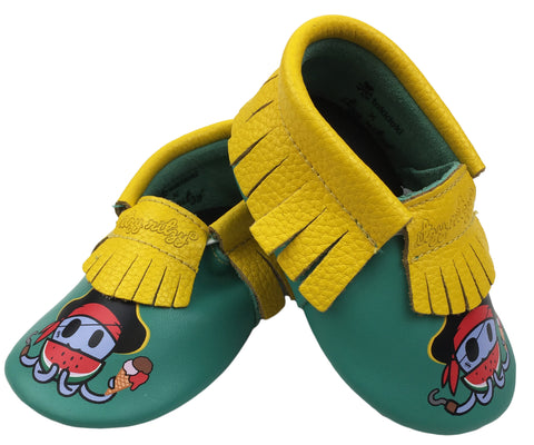 tokidoki + Itzy Ritzy Moc Happens Leather Baby Moccasins