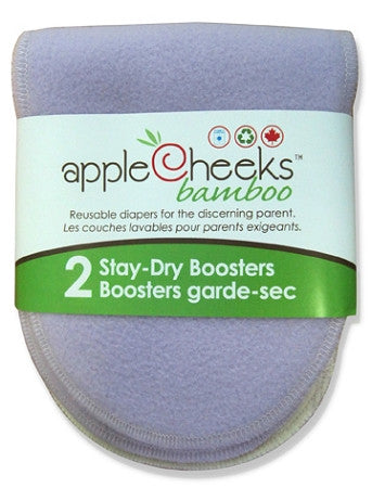AppleCheeks Stay Dry Bamboo Booster - 2 Pack