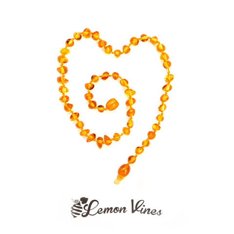 Lemonvines - Polished Amber Necklace
