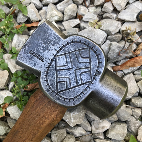 2.5 pound decorated rounding hammer