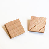 Geometric Stud Earrings - Small