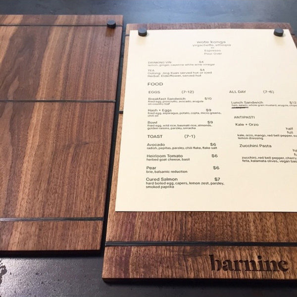 Bar Nine Menus