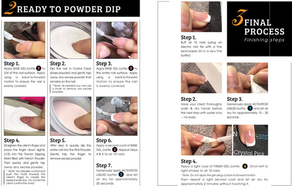 French dip powder manicure nails- Ready to dip instructions