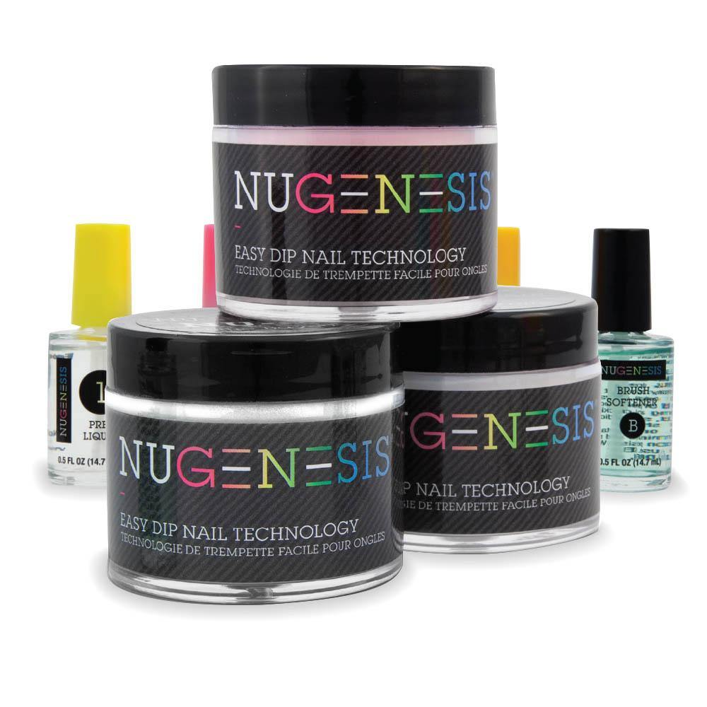 <strong>French Starter Kit</strong><br /><span style='font-size: smaller;'>Available in 1 oz &amp; 2 oz sizes</span> - NuGenesis Nails