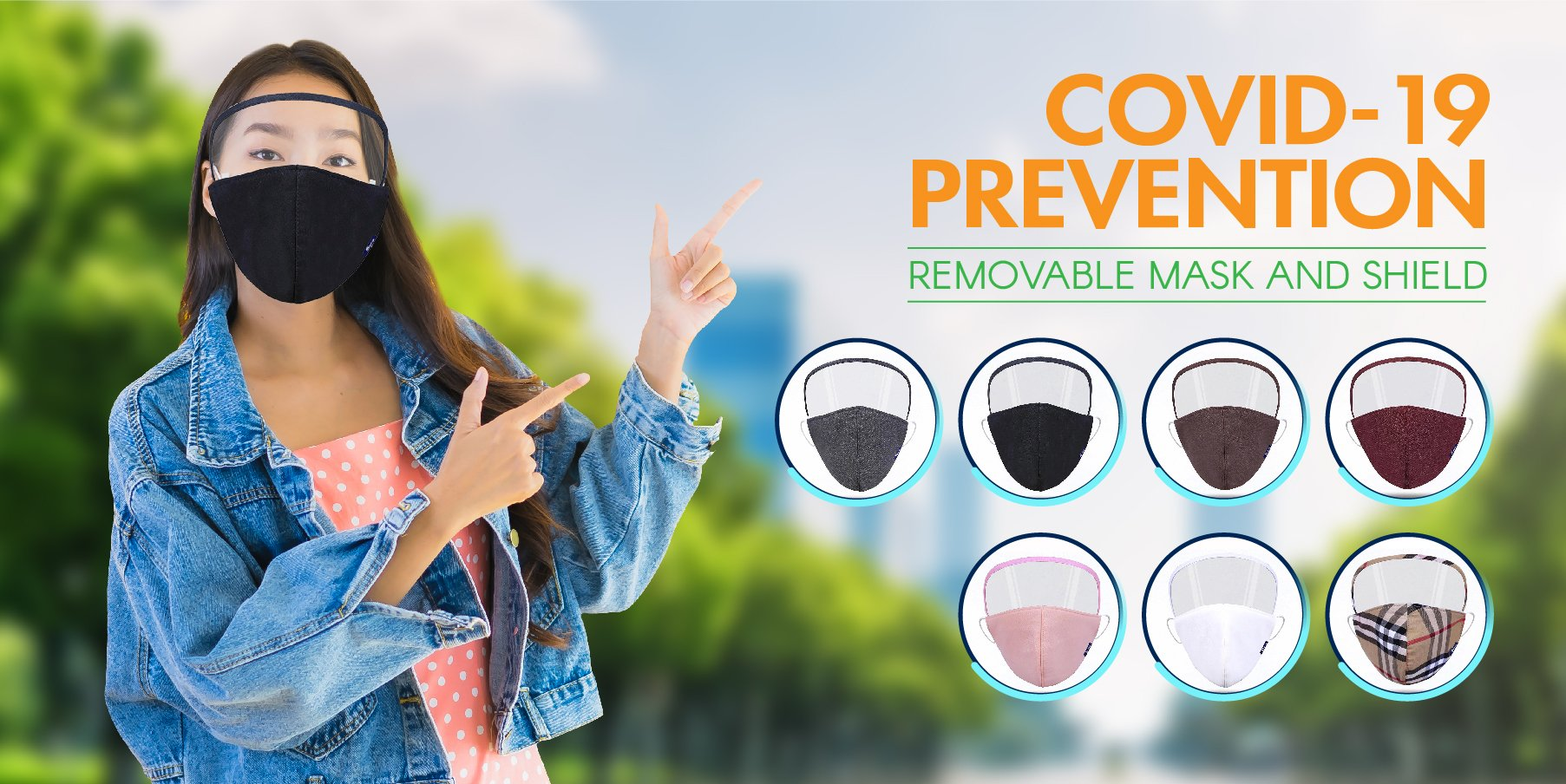 Protect Yourself and Your Customer Removable Mask and Shield