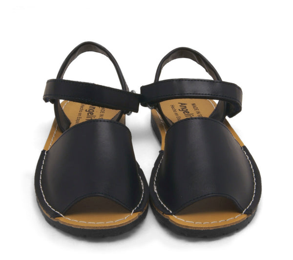 Toddler sandals, menorquina sandals, leather sandals, dark Navy Menorquina Leather Sandals