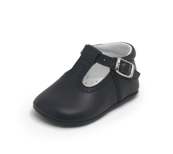 Baby t-strap shoes, baby moccs, Leather