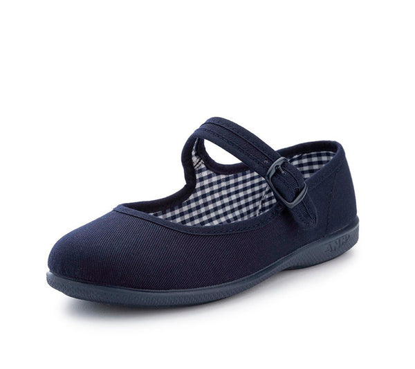Mary Janes canvas shoes, Girls canvas shoes, Navy Canvas Buckle Mary Janes