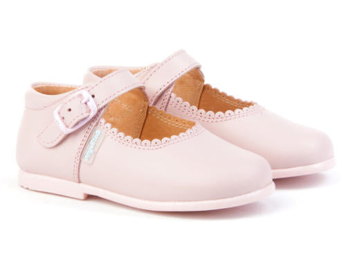 Walker Shoes, Pink Mary janes, leather