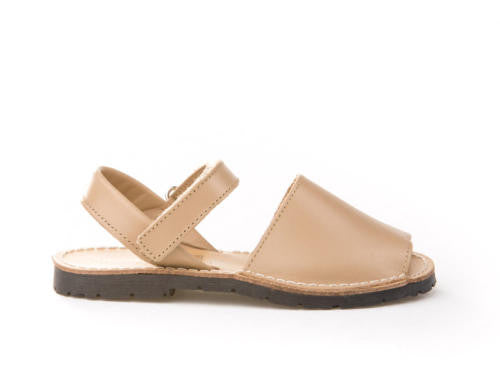 Leather Camel Sandals Menorquina for girls and boys