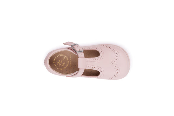 Walker Pink T-strap Leather Shoes, Toddler Shoes,  Girl Shoes