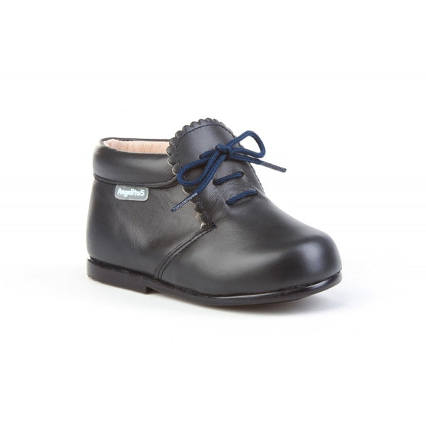 Leather Dark Navy Booties for babies and Toddlers, Baby boots, baby moccs