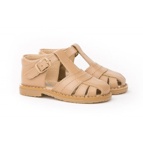 Leather Camel Boys Sandals