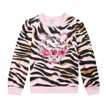 Kenzo Tiger Stripes Sweatshirt | Pink - Green Hearts Pink