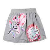 Kenzo Flower Skirt Reversible | Grey - Green Hearts Pink