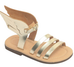Twininas Hermes Sandals | Gold - Green Hearts Pink