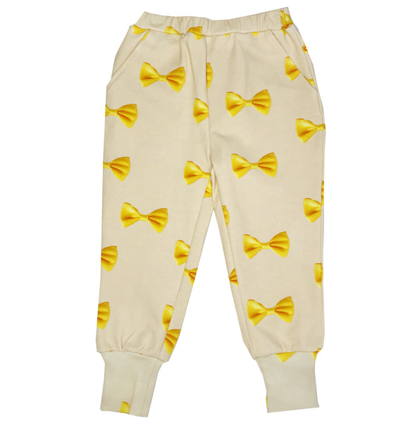 Romey Loves Lulu Long Cuff Sweatpants | Yellow Bows