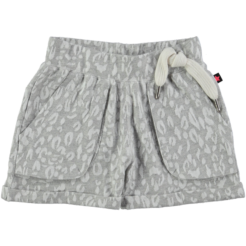 Molo Shorts Ara | Grey Leopard - Green Hearts Pink