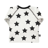 Molo Baby Long Sleeve Shirt | Black Star - Green Hearts Pink