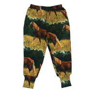 Romey Loves Lulu Long Cuff Sweatpants | Horses
