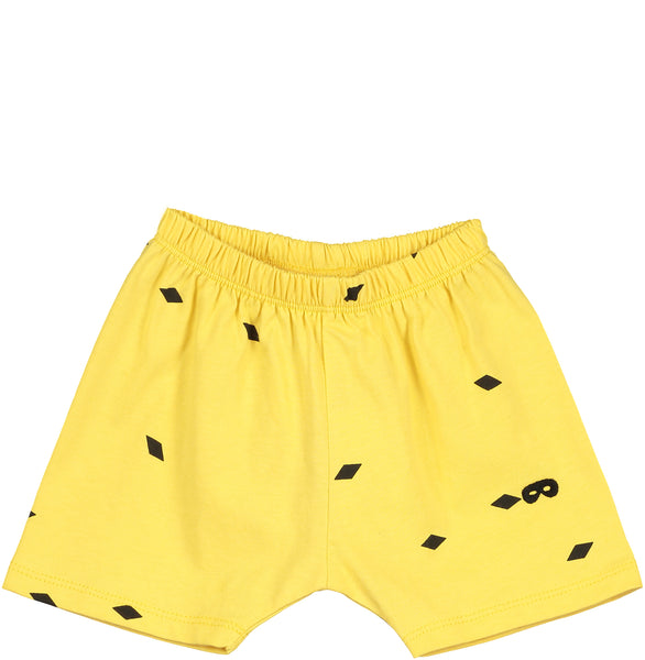 Beau Loves Baby Shorts | Yellow - Green Hearts Pink