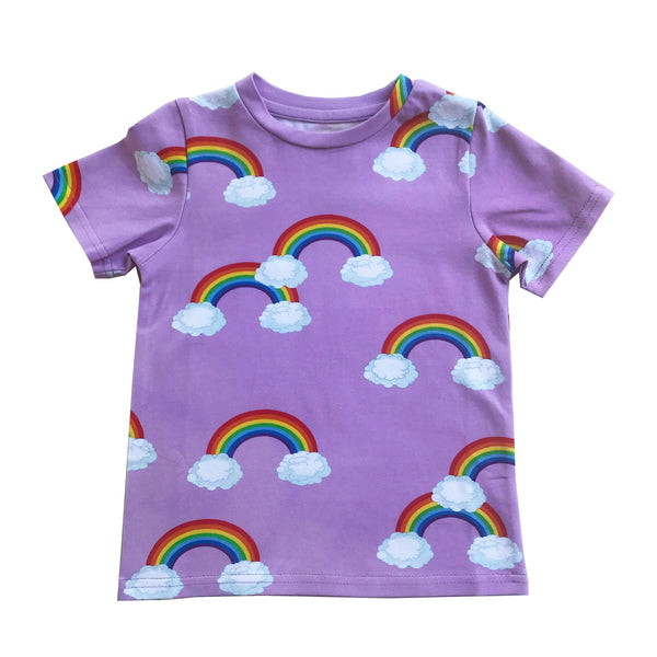 Romey Loves Lulu T-Shirt | Purple Rainbow