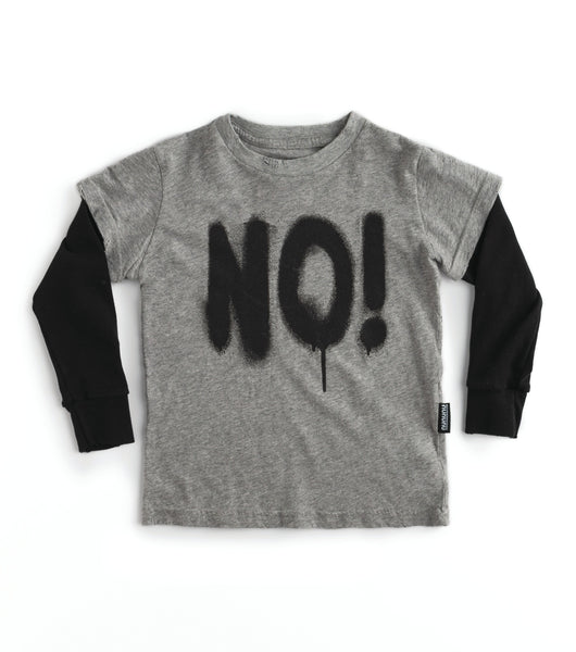 Nununu Sprayed No T-Shirt | Heather Grey