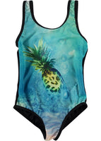Molo Swimsuit Nika | Swimming Pineapple - Green Hearts Pink