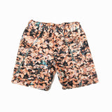 Agatha Cub Chino Short | Field Peach - Green Hearts Pink