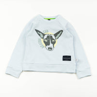 Agatha Cub Sweatshirt | Powder - Green Hearts Pink
