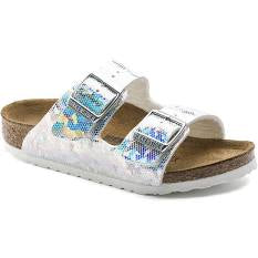 Birkenstock Arizona | Hologram Silver - Green Hearts Pink