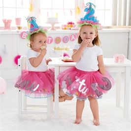 Mud Pie | Birthday Tutu - Green Hearts Pink