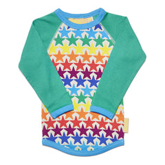 Boys&Girls Baby Raglan | Stars - Green Hearts Pink