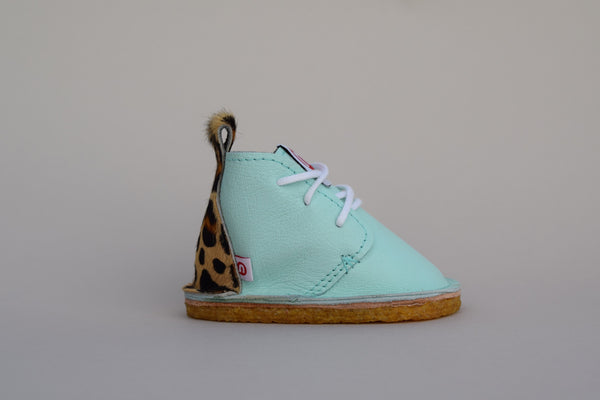 Nimble Baby Seta | Diamond Blue / Leopard - Green Hearts Pink