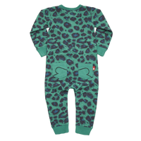 Rock Your Baby Play Suit | Green Leopard - Green Hearts Pink