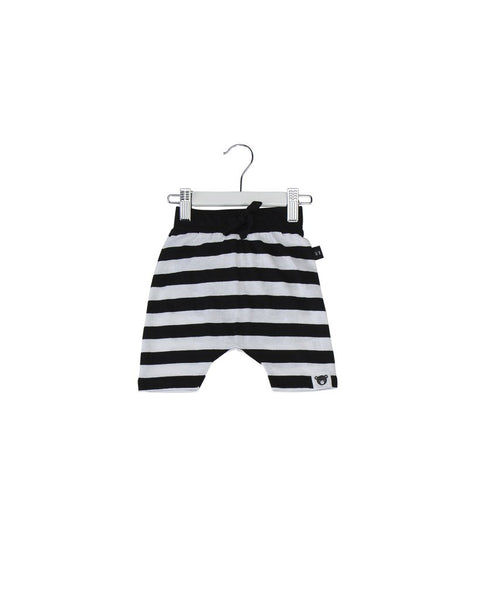 Huxbaby Drop Crotch Shorts | Striped - Green Hearts Pink