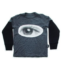 Nununu Eye Patch LS T-Shirt | Charcoal