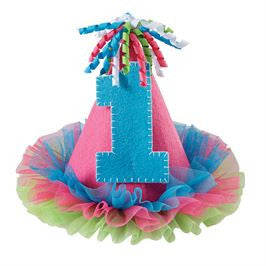 Mud Pie | #1 Party Hat - Green Hearts Pink