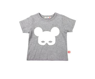 Bebe de Pino Mask Tee | Gray - Green Hearts Pink