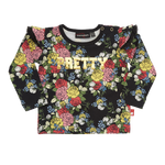 Rock Your Baby Pretty T-Shirt | Midnight Garden - Green Hearts Pink