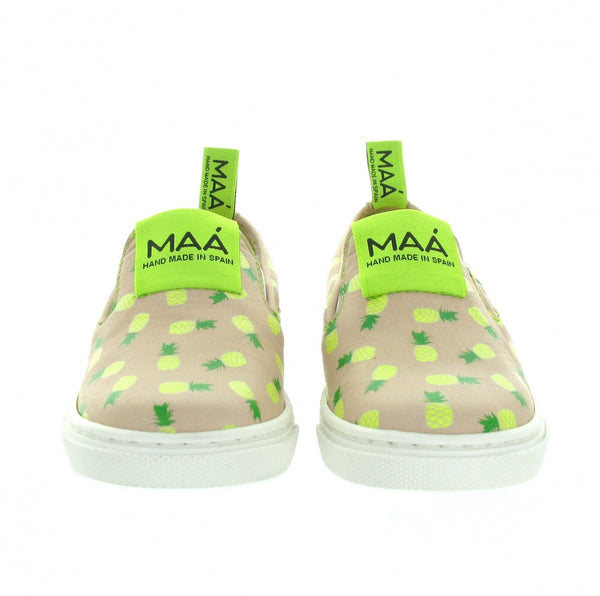 MAA Sneakers | Pineapple - Green Hearts Pink