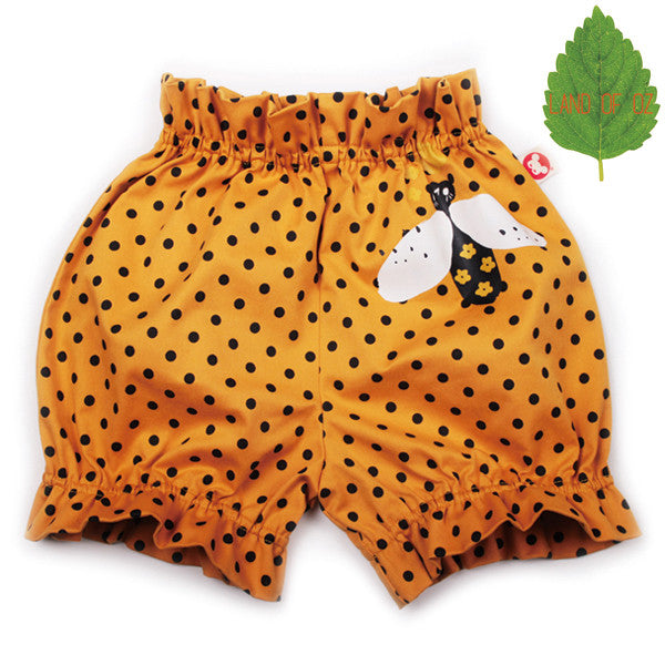 Bebe de Pino Flower Bloomers | Dots - Green Hearts Pink