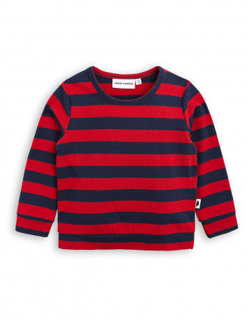 Mini Rodini Blockstripe LS Tee | Red