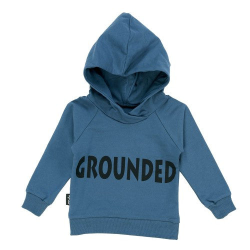 Moi Grounded Hoody | Duck Blue - Green Hearts Pink