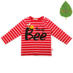 Bebe de Pino Honey Bee Tee | Red - Green Hearts Pink