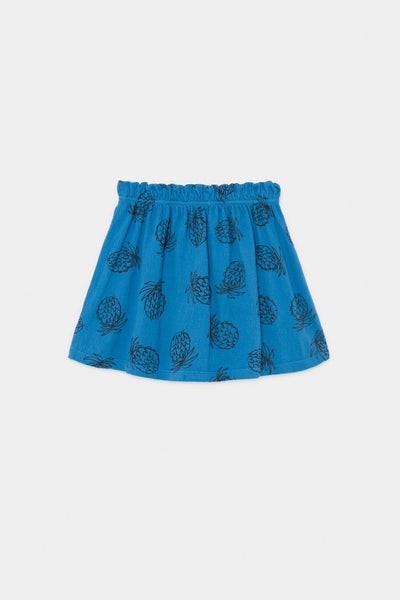 Bobo Choses All Over Pineapple Jersey Skirt - Green Hearts Pink