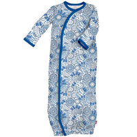 Magnificent Baby | Blue Modern Mosaic Gown
