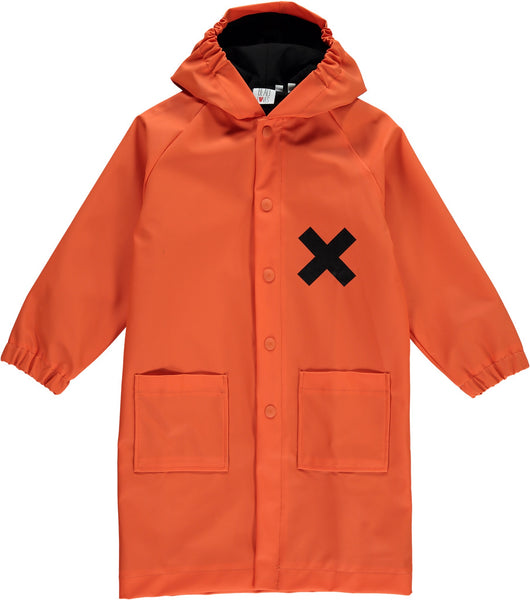 Beau Loves Raincoat | Orange - Green Hearts Pink