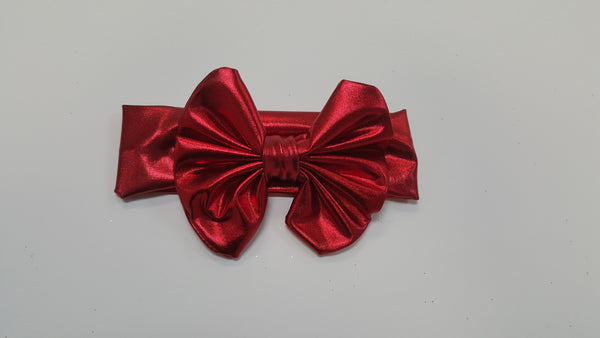 Bari Lynn | Metallic  Red Headband - Green Hearts Pink